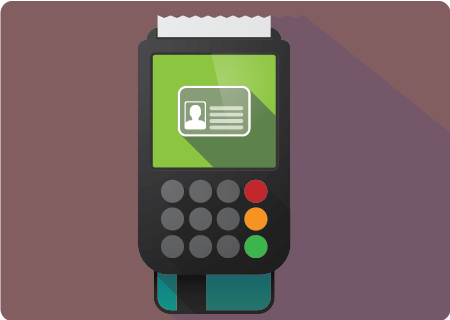 Chip reader with credit card