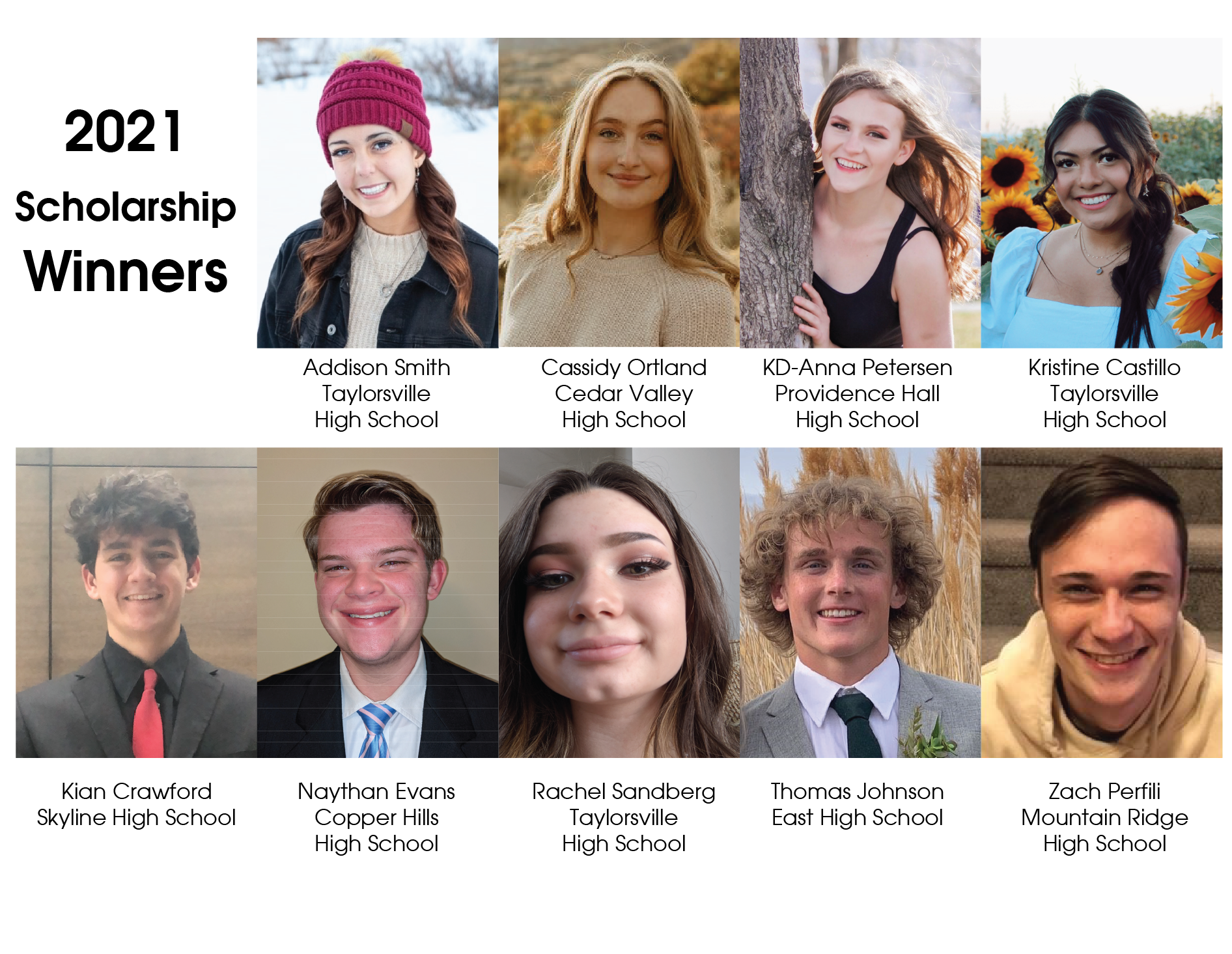 Image for 2021 Scholarship Winners