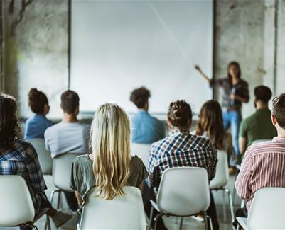 People attending a seminar
